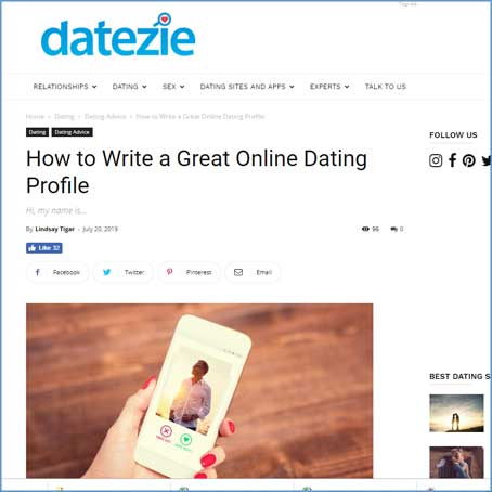 LoveAndMatchmaking on Datezie